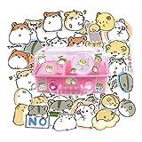 Yummy Bun 40 Pieces Waterproof Hamster Vinyl Stickers for Kids Craft, Laptop, Water Bottles, Fridge, Daily Planner, Scrapbook