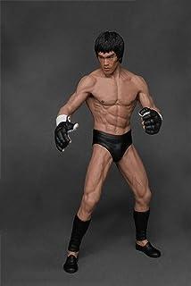 QTRT Bruce Lee Chinese Kung-Fu 1/12 Eroe di Combattimento a Mano PVC Carattere di Modello Figura della Statua del Giocatto...
