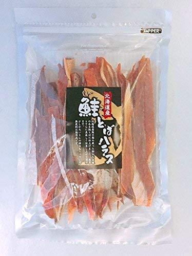 北海道産 天然秋鮭使用 無選別 鮭とばハラス 600g(300g+300gの2袋セット) 業務用チャック付袋 脂がのったハラス使用 0.6kg
