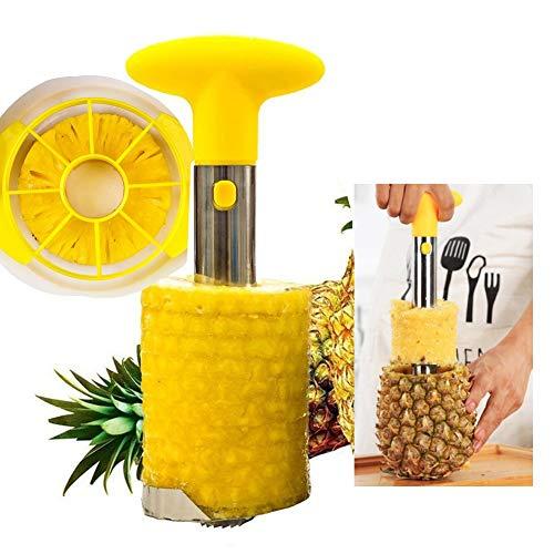 Leayao Ananasschäler, einfaches Küchenwerkzeug, Edelstahl, Obst Ananasschäler, Stein, Trimmmesser