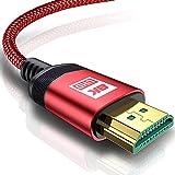  Câble HDMI 8 K 2.1 AviBrex 8 K @ 60 Hz 4 K @ 120 Hz HDTV 7680 x 4320 UHD HDMI 2.1 3D haut débit 48 Gbps HDMI Ethernet HDR eARC Connecteur de précision dynamique HDR HDCP 2.3
