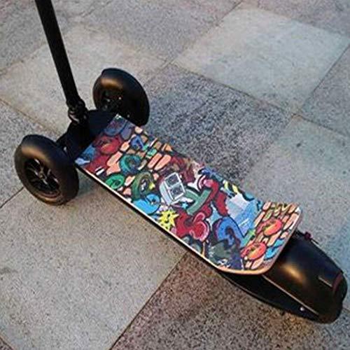Klappbar E-Scooter, Elektro Scooter Mit 3 Rädern Und Hinteren Rückleuchten Höhenverstellbarer Klappgriff Erwachsene Tragbar, Leicht Zusammenklappbar, Verstellbar Surfing Für Erwachsene,Graffiti