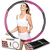 ActiveVikings Hula Hoop Reifen Ideal für Fitness, Gewichtsreduktion und Massage, 6-8 Segmente Abnehmbar - für Erwachsene & Kinder (Pink)