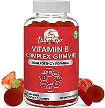 Vitamin B Complex Gummies: Vitamin B12, B7 (Biotin), B6, B3 (Niacin), B5, B6, B8, B9 (Folate). Supports Prenatal- Vegan Di...