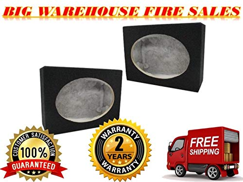 Absolute 2SQ6X9 Pair 6 x 9 Inches Square Speaker Box with Speaker Terminal