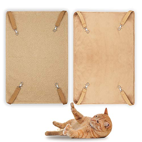 EONMIR 2Pack Cat Hammock for Cage, Soft Pet Bed Fit Ferret, Kitten, Puppy, Small Dog (Brown)