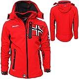 Geographical Norway - Chaqueta para hombre, chaqueta cortavientos, deportiva, para exteriores, Todo el año, Softshell Jacket, Hombre, color rojo, tamaño M