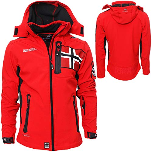 Geographical Norway Herren Softshell Jacke Funktions Outdoor, Rot - L