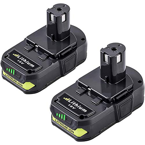 2 Pack P102 2500mAh Replacement for Ryobi 18V Lithium Ion Battery P104 P105 P102 P103 P107 P108 for Ryobi 18-Volt ONE+ Plus Cordless Power Tool