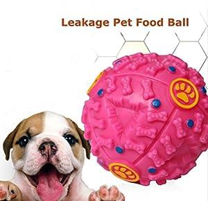 Transer® Jouet pour animaux de compagnie, Jouet pour balles pour chiens, Squeaky rire charlatan Sound Toy ball formation chiens nourriture distributeur durable jouets à mâcher