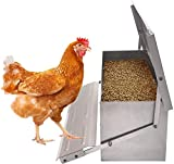 ★COST REDUCTION: With the protection of our outdoor chicken feeder, your feeding cost will be reduced with the reduction of feed waste rate. And you don't have to rush home every day to feed the chickens anymore. Just fill-up the feeder and go out fo...