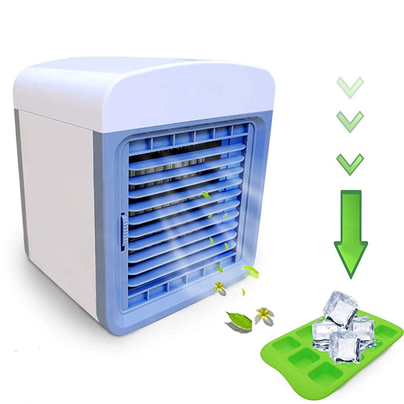 Wulidasheng Portable Air Conditioner Cooler Fan,Arctic Air Desktop Cooling Fan Evaporative Air Cooler Conditioner for Home Room Office, Mini Desk Fan White