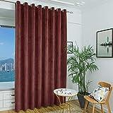Slider Blinds for Patio Door Curtains - Home Decor Grommet Heavy Duty Velvet Draperies Vertical Blind Drapes for Bedroom Divider/Sliding Glass Door (Burgundy, 9 ft Tall x 8.3 ft Wide, 1 Panel)