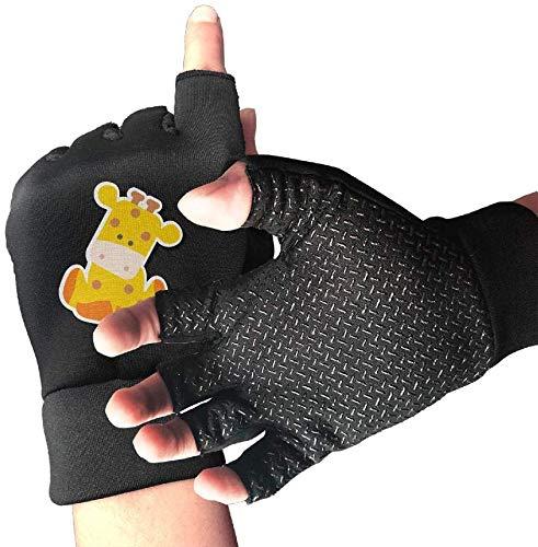Licht Saber DUN gripvaste halve vinger fietshandschoenen leuke karikatuur-roodwild-oefenhandschoenen voor gym gewichtheffen training fitn biking
