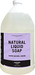 Caron & Doucet - Lavender Liquid Soap | 100% Natural Moisturizing Soap for Hands & Body Refill | Concentrated Formula Made...