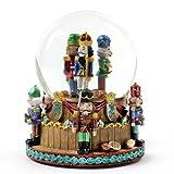 The San Francisco Music Box Company Christmas Nutcracker Soldiers Snow Globe