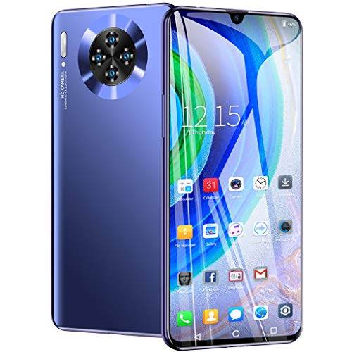 Unlocked Smartphone 6.26 inch, Quad Core, Android 6.1, Dual SIM Card 1G +16GB Extended Memory 64G, Face Recognition, GPS WiFi Unlocked Call Phones (6.26 inch, Blue)
