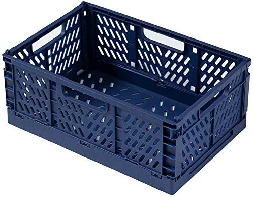 LHYLHY Caja de Almacenamiento de plástico Caja de cestas de Almacenamiento de Almacenamiento de Cocina apilable para el hogar Caja (Color: GrisTamaño: 14 7x22 2cm)