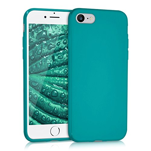 kwmobile Cover compatibile con Apple iPhone 7/8 / SE (2020) - Custodia in silicone TPU - Backcover protezione posteriore- petrolio matt