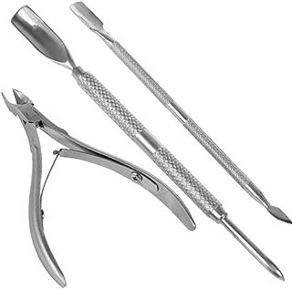 Nail Cuticle Spoon Pusher Remover Nail Cut Tool Pedicure Manicure Set. Pocket Nail Cuticle Nipper Pack Contains Nail Trimm...