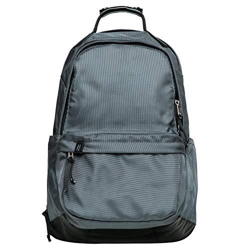 KAUKKO Vintage Casual Polyster and Leather Rucksack Backpack (Nylon Grey)
