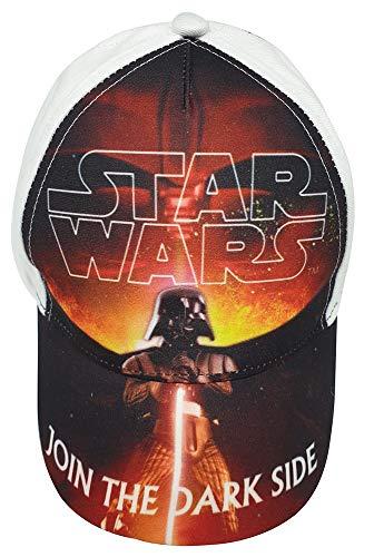Star Wars Anakin Skywalker Kappe, Baseballcap, Cap, Kappy, Cappy Join The Dark Side, für Kinder, Jungen (54, Weiß)