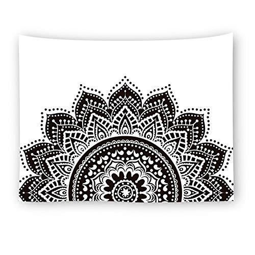 WERT Mandala Flores Tapiz Colgante de Pared Impresión HD Arte Manta Tela de Fondo Decoración del hogar para Sala de Estar Dormitorio Toalla de Playa A1 95x73cm