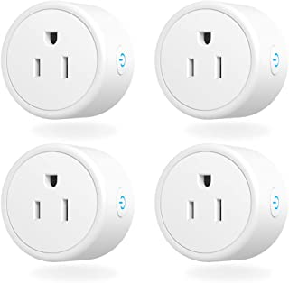 Smart Plug - Aoycocr Mini WIFI SwitchWorks With Alexa, Google Home & IFTTT, Remote Control Outlet with Timer Function, ETL/FCC/Rohs Listed Socket, White(4 Pack)