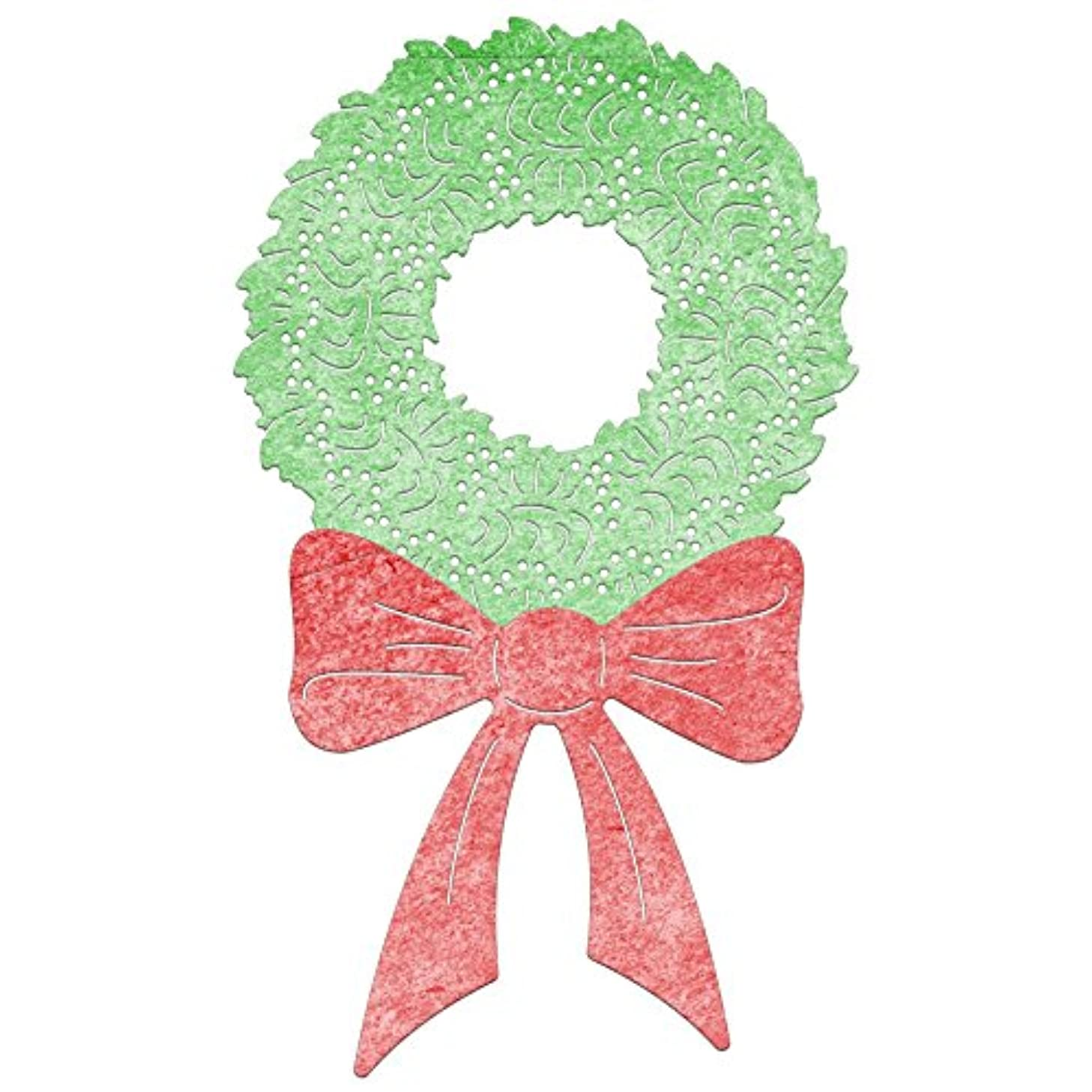 Cheery Lynn Designs DL143 Ornamental Wreath & Bow
