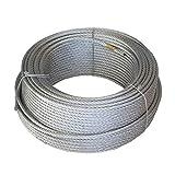 WURKO 12018010 - Cable acero 10mm galvanizado (6x19x1) rollo-100 mt.