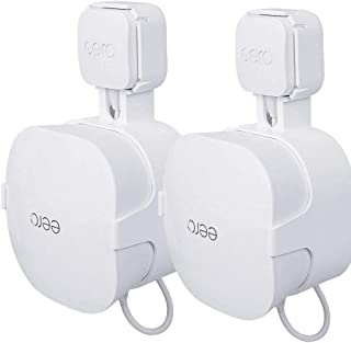 TIUIHU Soporte de pared para sistema de malla eero WiFi (adecuado para adaptador de 15 W), fácil de mover, ahorra espacio ...