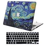 AJYX Custodia per 2020 2019 2018 MacBook Air 13 Retina A2179/A1932, Plastica Case Cover Rigida e Copertura Tastiera per MacBook Air 13 Pollici Retina Display/Touch ID,Notte Stellata