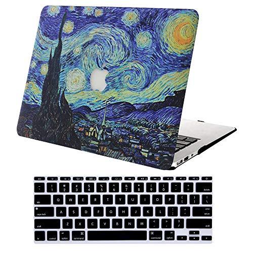 AJYX Funda Dura para MacBook Pro 13 Pulgadas con CD-ROM A1278 (Versión 2012/2011/2010/2009/2008), Plástico Carcasa Rígida Protector Cubierta & Cubierta de Teclado - Noche Estrellada