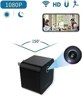 Futursd Mini Cargador de Pared USB de Nanny CAM con visualización remota HD 1080P detección de Movimiento Las Mejores cámaras de Escritorio indetectables para Interiores (Color : Negro)