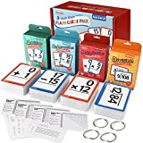 Torlam Multi Math Flash Cards for Kids Ages 4-8 - Addition, Subtraction, Multiplication, & Division - All Facts 0-12 with 4 Rings, Math Games for Kids 6-8 3rd 4th 5th 6th Grade - 332 Cards Total