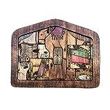 LTHTX Rompecabezas de Belén con diseño de madera quemada, rompecabezas de Jesús de madera para adultos y niños