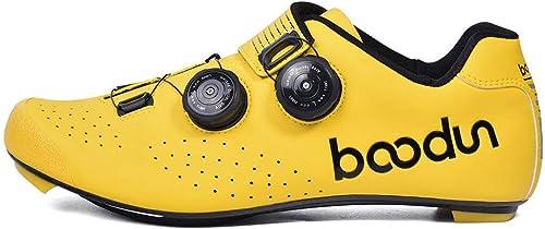 MTCTK Route Anti-dérapant Chaussures Chaussures Chaussures de vélo Semelle en Fibre de Carbone extérieure vélo de Montagne équitation Serrure Chaussures Double Boucle de la Colonne vertébrale b11
