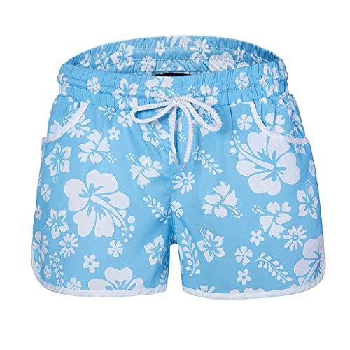 Zarupeng veelkleurige bloemenprint hot pants strandshorts elastische band ademend vrijetijdsshorts chino shorts met riem