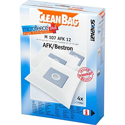 CleanBag M 107 AFK Lot de 12 sacs d'aspirateur + 1 filtre universel pour aspirateur + 1 filtre universel