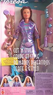 Barbie TERESA Cut 'n Style Doll w Extra Hair Extensions, Scissors & More! (2002 From Canada)