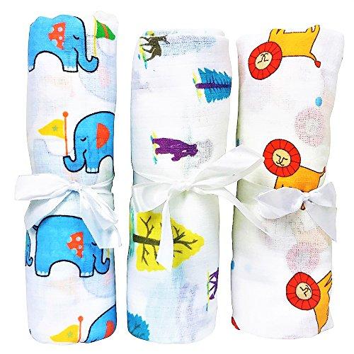 Verano Venta muselina swaddle bebé. Multi Uso–Manta de arrullo (algodón, Baby Wrap, cubierta de lactancia, Baby Car Seat Cover.–Pack de regalo para Baby Shower como Aden y Anais Swaddle Manta.