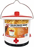 Farm Innovators HB-60P Heated 2 Gallon Poultry Drinker