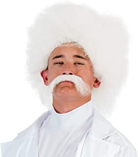 Scientist Adult Costume Wig and Moustache