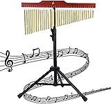 Nfudishpu 36 Töne Bar Chimes Glockenspiel Einreihige Windspiel mit Stativ Schlaginstrument