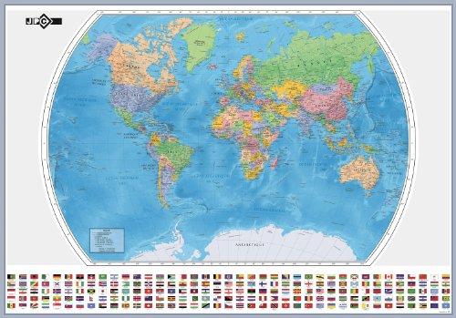 Jpc Créations World Map 126 x 88 cm