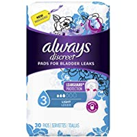 90-Count Always Discreet Incontinence Pads for Women, Light Absorbency