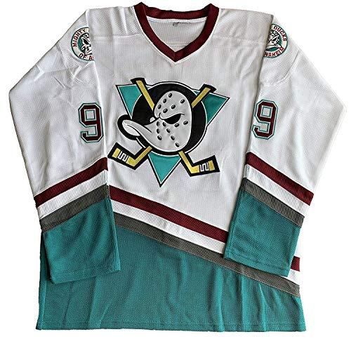 ananjin Charlie Conway #96 Mighty Ducks Adam Banks #99 Movie Eishockey Trikot Grün Weiß M 99 Weiß