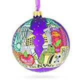 BestPysanky Best of New York City Glass Ball Christmas Ornament 4 Inches