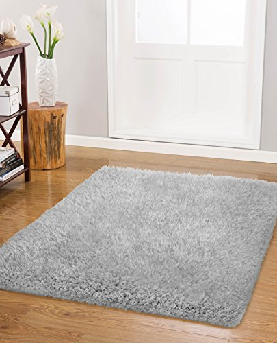 Vista Living Claudia Shag Area Rug 21 in. x 57 in., Silver