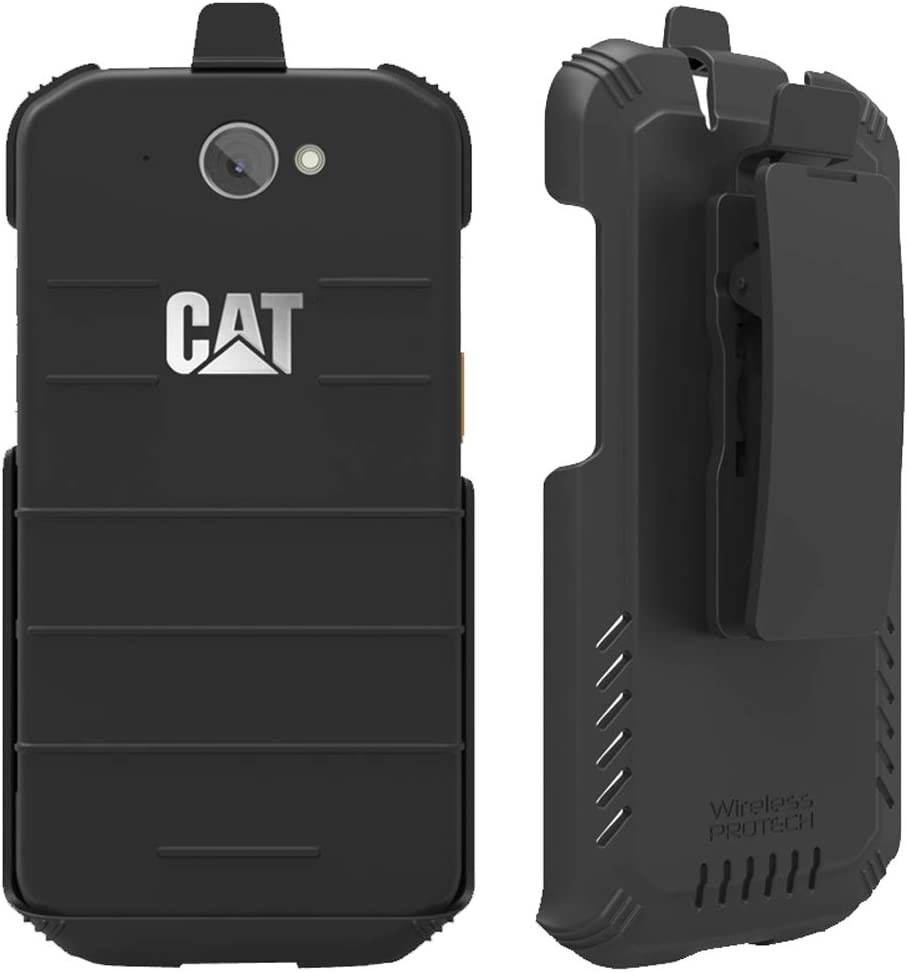 Wireless ProTech Case Compatible with CAT S48C, Secure fit, Quick Release Latch and Heavy Duty Swivel Belt Clip Holster